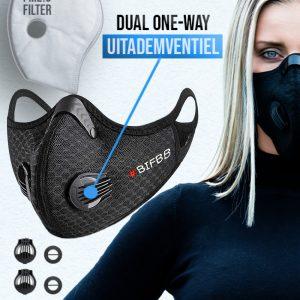 Phantom n95 Z mondkapje mondmasker black_gepersonaliseerd