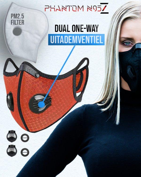 Phantom n95 Z mondmasker mondkapje oranje