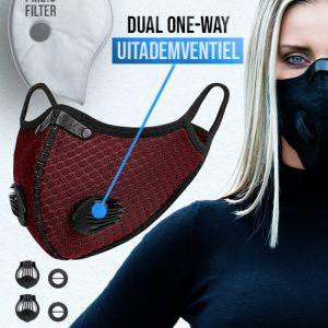 Phantom n95 Z mondkapje mondmasker deep rood